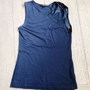 Gucci Tank Top Twist Shoulder Lurex Detail XS